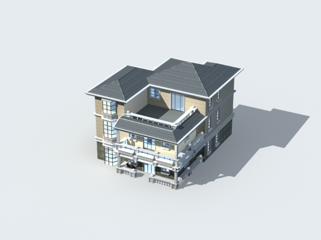 Luxury villa home 3d model 3ds max files free download - modeling ...