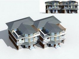 Row house design 3d model