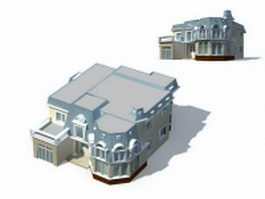 Villa home design 3d model