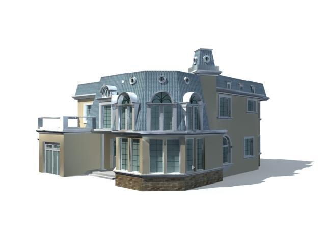 Villa Home Design 3d Model 3ds Max Files Free Download