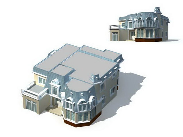 Villa home design 3d model 3ds max files free download - modeling ...