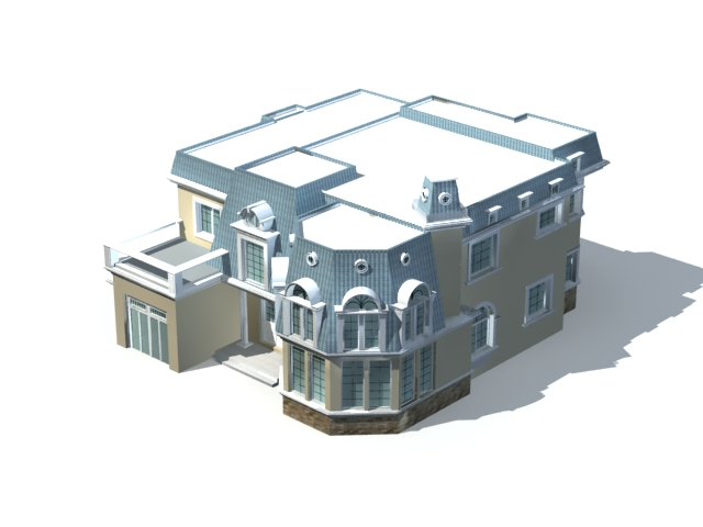 Villa home design 3d model 3ds max files free download - modeling ...