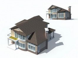 Ranch-style house 3d model