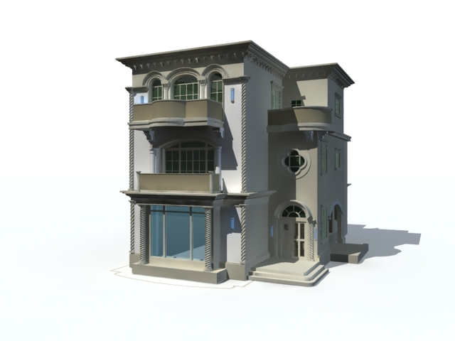 Mansion modern house 3d model 3ds max files free download House 3d model
