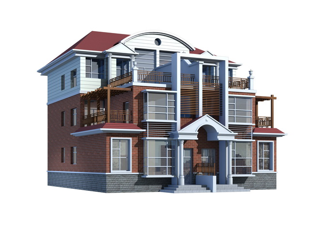 Three Storey Townhouse 3d Model 3ds Max Files Free