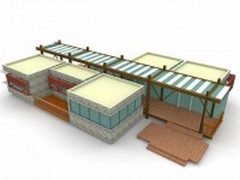 Modern holiday cottage house 3d model