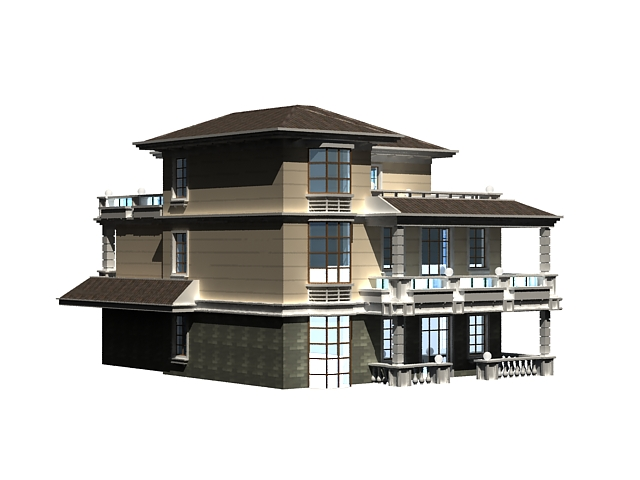 3 storey house 3d model 3ds max files free download for 3d garage builder