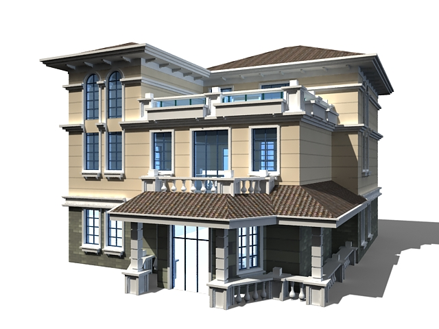 Modern Chinese House 3d Model 3ds Max Files Free Download