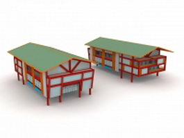 Stilted house building 3d model