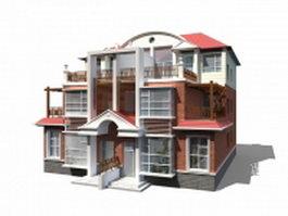 Modern townhouse units 3d model