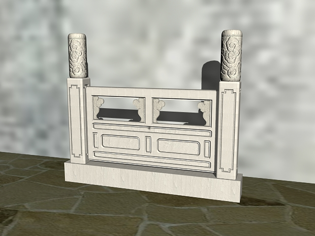 Stone Carving Railing 3d Model 3ds Max Files Free Download