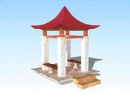 Garden pavilion 3d model