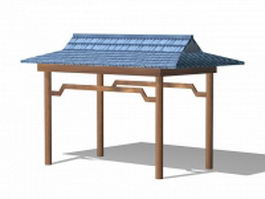 Patio garden gazebo 3d model