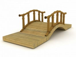Wood plank bridge 3d model