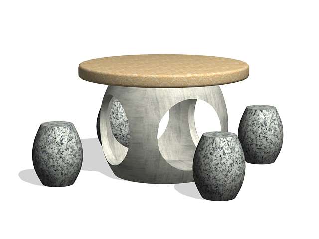 Outdoor stone furniture 3d model 3ds max files free for Outdoor furniture 3d max