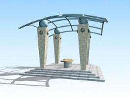 Modern pergola design 3d model