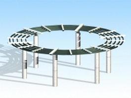 Circular pergola design 3d model