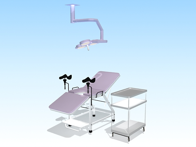 Gynecological examination equipment 3d rendering