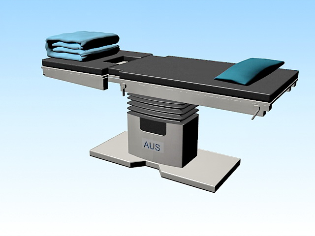Medical examination table 3d rendering
