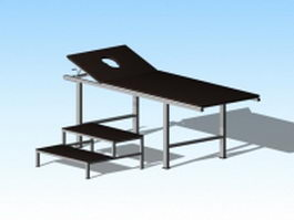 Hospital examination table 3d model