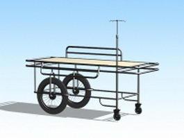 Medical transport stretcher 3d model