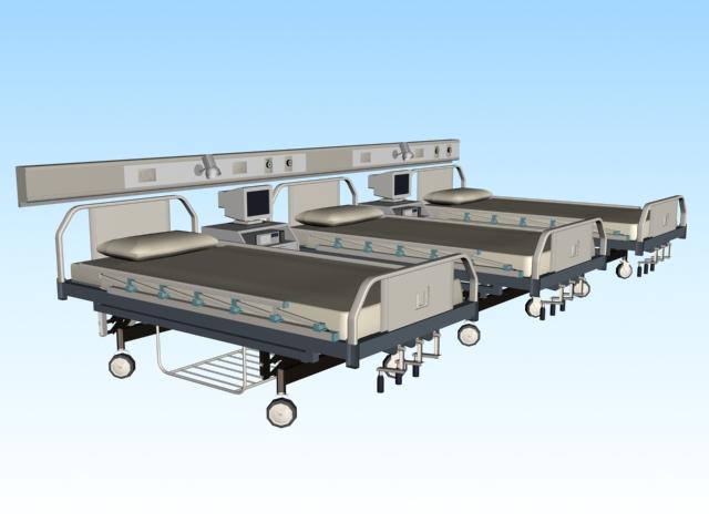 Hospital beds 3d model 3ds Max files free download - modeling ...
