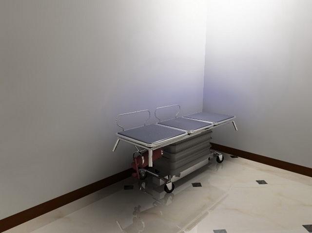 Transport stretcher 3d rendering