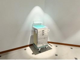 Medical cabinet cart 3d preview