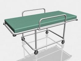 Hospital stretcher 3d model