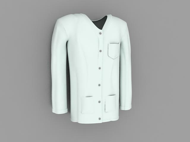 Doctor scrub clothing 3d rendering