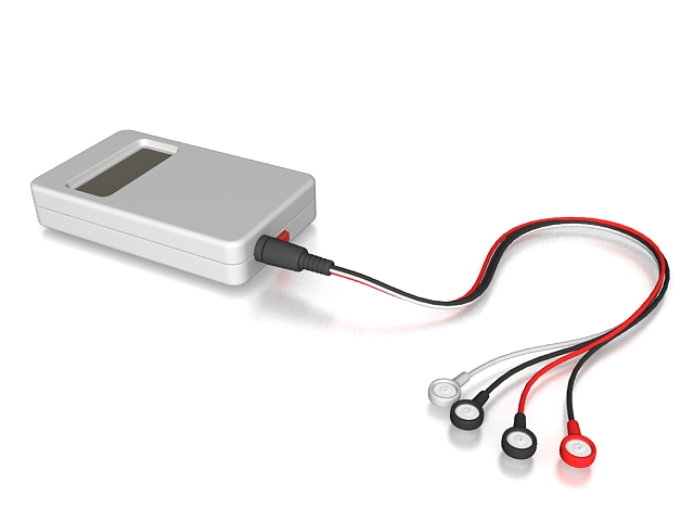 Holter monitor 3d rendering
