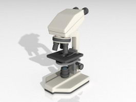 Compound microscope 3d model