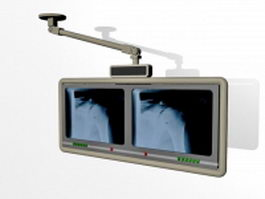 Radiology diagnostic monitor 3d model