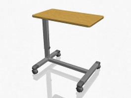 Medical overbed table 3d preview