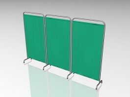 Hospital room divider screen 3d model