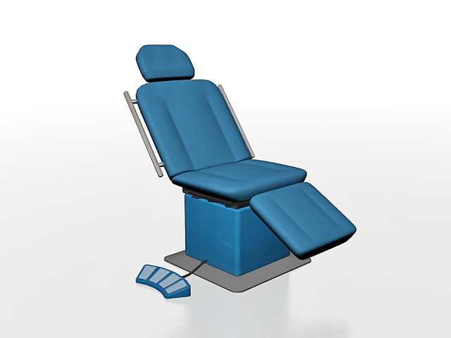 Medical treatment couch 3d rendering