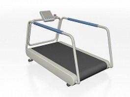 Medical treadmill machine 3d model