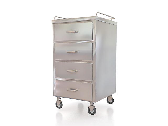 Medical Carts With Drawers 3d Model 3ds Max Files Free