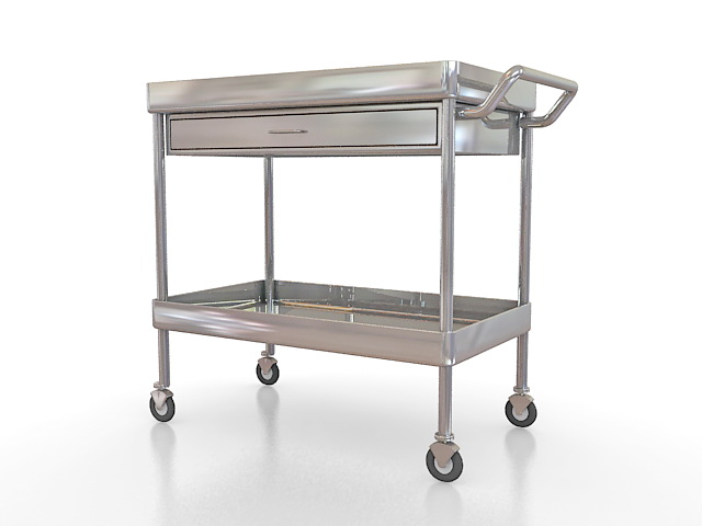 Hospital Medication Cart 3d Model 3ds Max Files Free