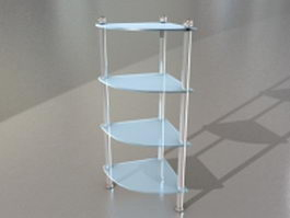 Bathroom corner glass shelf 3d model