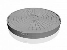 Round manhole cover 3d model