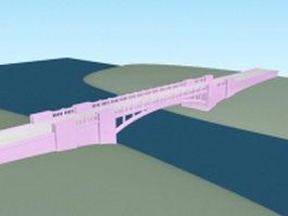 Arch bridge 3d model