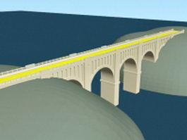 River gorge bridge 3d model