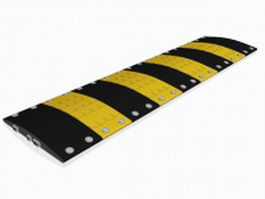 Metal speed bump 3d model