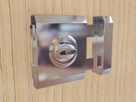 Steel door lock 3d model