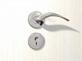 Commercial duty lever door handle 3d model