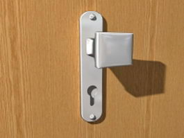Door knob and lock 3d model