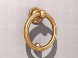 Ring door knocker 3d model