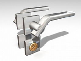 Lever door handles and locks 3d model