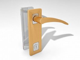 Lever door handles with locks 3d model